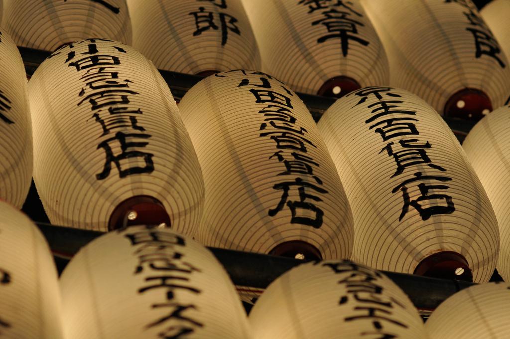 53_Japanese lantern wall